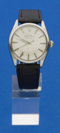 Timepieces:Wristwatch, Rolex Ref. 1002 Gent's Steel Air King, circa 1960. ...