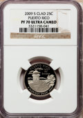 Proof Statehood Quarters, 2009-S 25C Puerto Rico PR70 Ultra Cameo NGC. NGC Census: (0). PCGSPopulation (453). Numismedia Wsl. Price for problem fre...
