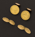 Estate Jewelry:Cufflinks, Two Striking Sets Of Gold Cufflinks. ... (Total: 21 Items)