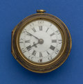 """Timepieces:Pocket (post 1900), J. Herald """"London"""" Verge Fusee Repousse Pair Case Pocket Watch . ..."""