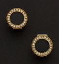 Estate Jewelry:Earrings, Estate Diamond & Gold Earrings With Interchanging Centers. ...