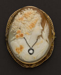 Estate Jewelry:Cameos, Large 14k Gold Shell Cameo. ...