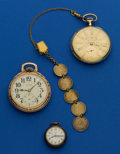 Timepieces:Pocket (post 1900), Three Pocket Watches With A Love Coin Fob. ... (Total: 3 Items)