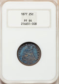 Proof Seated Quarters, 1877 25C PR64 NGC....