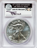 Modern Bullion Coins, 2011-S $1 Silver Eagle, 25th Anniversary Set, Insert autographed ByJohn M. Mercanti,12th Chief Engraver of the U.S. Mint, Fi...