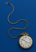 Timepieces:Pocket (post 1900), Illinois 21 Jewel Elinvar Bunn Special 161 A Pocket Watch. ...