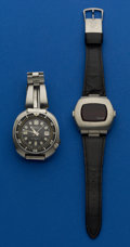 Timepieces:Wristwatch, Seiko Automatic & Pulsar LED Wristwatches. ... (Total: 2 Items)