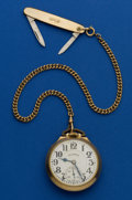 Timepieces:Pocket (post 1900), Illinois 21 Jewel 161 A Elinvar 60 Hour Bunn Special Pocket Watch....
