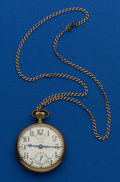 Timepieces:Pocket (post 1900), Waltham 21 Jewel Crescent Street With Up/Down Indicator Pocket Watch. ...