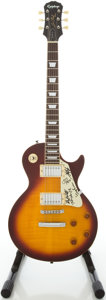 Musical Instruments:Electric Guitars, 1993 Epiphone Les Paul Cherry Sunburst Solid Body Electric Guitar,Serial # S93061030...