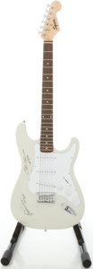 Musical Instruments:Electric Guitars, 2006 Squier by Fender Bullet White Solid Body Electric Guitar,Serial # SI060800281...