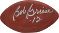 """Football Collectibles:Balls, Bob Griese Signed Leather NFL """"Wilson"""" Football...."""
