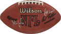 Football Collectibles:Balls, Dan Marino and others NFL Stars Multi Signed Football....