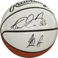 Basketball Collectibles:Balls, Karl Malone and Nolan Ryan Multi Signed Basketball....