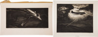 [Richard Blythe]. Two Aviation Engravings by William Heaslip