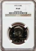 Proof Kennedy Half Dollars: , 1972-S 50C PR69 NGC. NGC Census: (50/0). PCGS Population (29/0).Mintage: 3,260,996. Numismedia Wsl. Price for problem free...