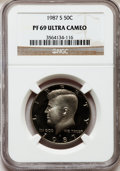 Proof Kennedy Half Dollars: , 1987-S 50C PR69 Ultra Cameo NGC. NGC Census: (913/116). PCGSPopulation (3779/213). Numismedia Wsl. Price for problem free...