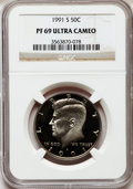 Proof Kennedy Half Dollars: , 1991-S 50C PR69 Ultra Cameo NGC. NGC Census: (549/279). PCGSPopulation (3367/309). Numismedia Wsl. Price for problem free...