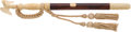 Arms Accessories:Tools, Fine and Rare Cased Rosewood and Relief-Carved Ivory Presentation New York Police Department Baton Presented to Captain John C...