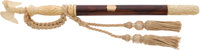 Fine and Rare Cased Rosewood and Relief-Carved Ivory Presentation New York Police Department Baton Presented to Captain...