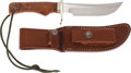 Edged Weapons:Knives, Randall Model 4-5 Skinner Knife and Scabbard....