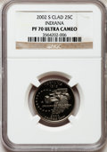 Proof Statehood Quarters, 2002-S 25C Indiana Clad PR70 Ultra Cameo NGC. NGC Census: (676). PCGS Population (197). Numismedia Wsl. Price for problem ...
