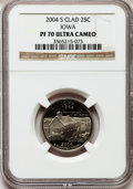 Proof Statehood Quarters, 2004-S 25C Iowa Clad PR70 Ultra Cameo NGC. NGC Census: (1280). PCGSPopulation (307). Numismedia Wsl. Price for problem fr...