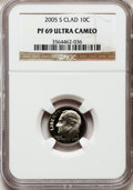 Proof Roosevelt Dimes, 2005-S 10C Clad PR69 Ultra Cameo NGC. NGC Census: (4478/1540). PCGSPopulation (3677/273). Numismedia Wsl. Price for probl...