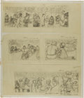 Original Comic Art:Miscellaneous, Dave Graue Alley Oop Sunday Comic Strip Preliminary OriginalArt Group (NEA, undated)....