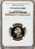 Proof Washington Quarters: , 1994-S 25C Clad PR70 Ultra Cameo NGC. NGC Census: (187). PCGSPopulation (193). Numismedia Wsl. Price for problem free NGC...