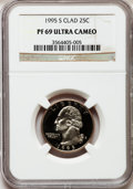 Proof Washington Quarters: , 1995-S 25C Clad PR69 Ultra Cameo NGC. NGC Census: (207/169). PCGSPopulation (2506/177). Numismedia Wsl. Price for problem...