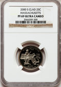 Proof Statehood Quarters: , 2000-S 25C Massachusetts Clad PR69 Ultra Cameo NGC. NGC Census:(3399/814). PCGS Population (4623/192). Numismedia Wsl. Pr...