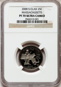 Proof Statehood Quarters: , 2000-S 25C Massachusetts Clad PR70 Ultra Cameo NGC. NGC Census:(815). PCGS Population (193). Numismedia Wsl. Price for pr...