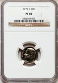 Proof Roosevelt Dimes: , 1972-S 10C PR69 NGC. NGC Census: (47/0). PCGS Population (45/0).Mintage: 3,260,996. Numismedia Wsl. Price for problem free...
