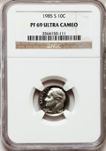 Proof Roosevelt Dimes: , 1985-S 10C PR69 Ultra Cameo NGC. NGC Census: (412/62). PCGSPopulation (2615/123). Numismedia Wsl. Price for problem free ...