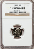 Proof Roosevelt Dimes: , 1989-S 10C PR69 Ultra Cameo NGC. NGC Census: (284/63). PCGSPopulation (2201/149). Numismedia Wsl. Price for problem free ...