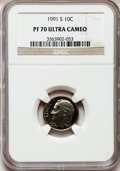 Proof Roosevelt Dimes: , 1991-S 10C PR70 Ultra Cameo NGC. NGC Census: (271). PCGS Population(233). Numismedia Wsl. Price for problem free NGC/PCGS...