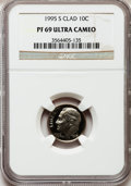 Proof Roosevelt Dimes: , 1995-S 10C Clad PR69 Ultra Cameo NGC. NGC Census: (157/218). PCGSPopulation (2221/183). Numismedia Wsl. Price for problem...