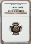 Proof Roosevelt Dimes: , 1995-S 10C Clad PR70 Ultra Cameo NGC. NGC Census: (218). PCGSPopulation (183). Numismedia Wsl. Price for problem free NGC...