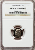 Proof Roosevelt Dimes: , 1996-S 10C Clad PR70 Ultra Cameo NGC. NGC Census: (165). PCGSPopulation (137). Numismedia Wsl. Price for problem free NGC...