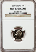 Proof Roosevelt Dimes: , 2000-S 10C Clad PR69 Ultra Cameo NGC. NGC Census: (873/345). PCGSPopulation (2226/150). Numismedia Wsl. Price for problem...