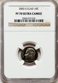Proof Roosevelt Dimes: , 2003-S 10C Clad PR70 Ultra Cameo NGC. NGC Census: (1007). PCGSPopulation (322). Numismedia Wsl. Price for problem free NG...