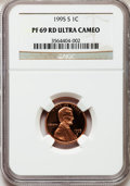 Proof Lincoln Cents, 1995-S 1C PR69 Red Ultra Cameo NGC. NGC Census: (1110/119). PCGSPopulation (3813/206). Numismedia Wsl. Price for problem ...
