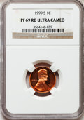 Proof Lincoln Cents, 1999-S 1C PR69 Red Ultra Cameo NGC. NGC Census: (5016/425). PCGSPopulation (4453/173). Numismedia Wsl. Price for problem ...