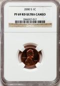 Proof Lincoln Cents, 2000-S 1C PR69 Red Ultra Cameo NGC. NGC Census: (4068/375). PCGSPopulation (6053/302). Numismedia Wsl. Price for problem ...