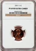 Proof Lincoln Cents, 2001-S 1C PR69 Red Ultra Cameo NGC. NGC Census: (3475/317). PCGSPopulation (5226/221). Numismedia Wsl. Price for problem ...
