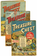 "Golden Age (1938-1955):Miscellaneous, Treasure Chest Group - Davis Crippen (""D"" Copy) pedigree (George A. Pflaum, 1946-47) .... (Total: 13 Comic Books)"
