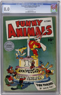 Golden Age (1938-1955):Funny Animal, Fawcett's Funny Animals #11 (Fawcett, 1943) CGC VF 8.0 Cream toOff-white pages....