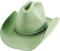 Music Memorabilia:Costumes, Lynn Anderson Cowboy Hat. A light-green Bailey cowboy hat worn by the Country singer during several of her rodeo shows. Also... (Total: 1 Item)