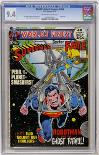 World's Finest Comics #208 (DC, 1971) CGC NM 9.4 Off-white to white pages